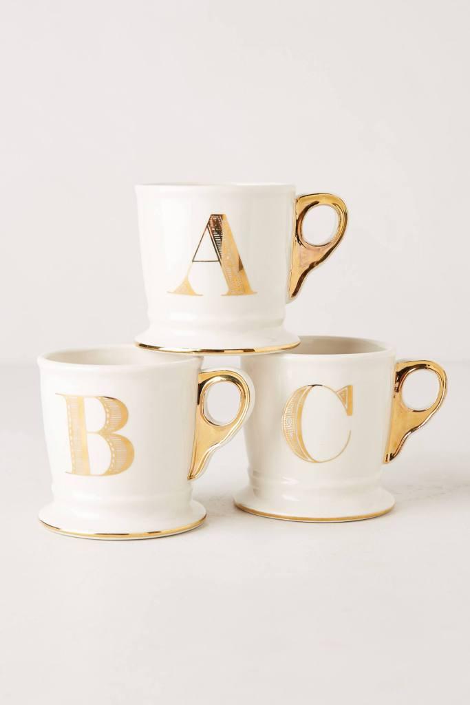 monogram mugs